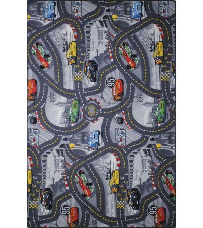 Μοκέτα World of Cars 2 Grey Biokarpet 1,60x2,40 | Χαλιά ΙΩΑΚΕΙΜΙΔΗΣ 4 Γενιές