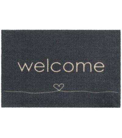 Ποδόμακτρο Ambiance 807 Welcome heart anthra 0,50x0,75 | Χαλιά ΙΩΑΚΕΙΜΙΔΗΣ 4 Γενιές